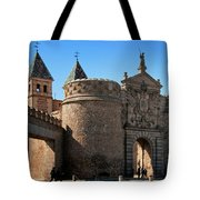 Bisagra Gate Toledo Spain Tote Bag by Joan Carroll