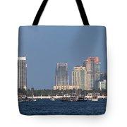 Biscayne Bay At Miami Yatch Club Tote Bag