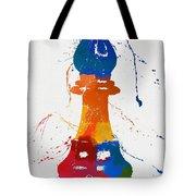 Bishop Chess Piece Paint Splatter Tote Bag