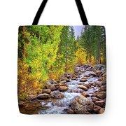 Bishop Creek In Autumn Tote Bag