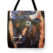 Bison At Dusk Tote Bag