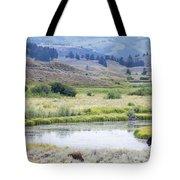 Bison At Slough Creek Tote Bag