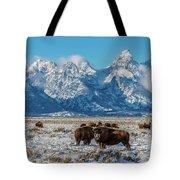Bison At The Tetons Tote Bag