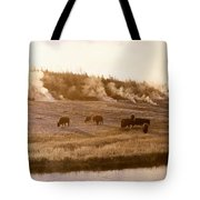 Bison Firehole River Yellowstone Tote Bag