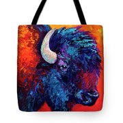 Bison Head Color Study II Tote Bag