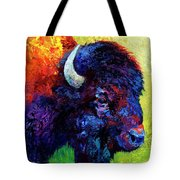 Bison Head Color Study IIi Tote Bag