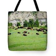 Bison Herd II Tote Bag
