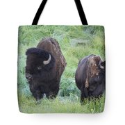 Bison In Love Iv Tote Bag