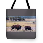 Bison In Yellowstone Tote Bag