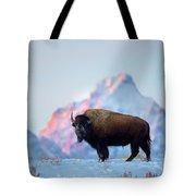 Bison Mountain Sunset Tote Bag