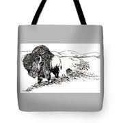 Bison Range Tote Bag by Jean Ann Curry Hess