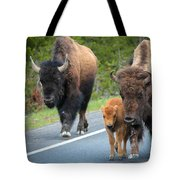 Bison Walking Tote Bag