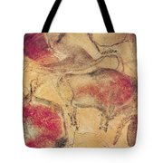 Bisons From The Caves At Altamira Tote Bag by Prehistoric