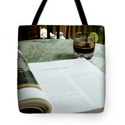 Bistro Table Study, Balcony Garden, Hunter Hill, Hagerstown, Mar Tote Bag