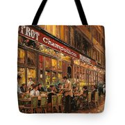 Bistrot Champollion Tote Bag by Guido Borelli