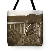 Bixby Creek Aka Rainbow Bridge Bridge Big Sur Photo  1937 Tote Bag