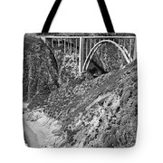 Bixby Creek Bridge Big Sur Photo  Circa 1939 Tote Bag