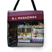 B.j. Magazines New York Tote Bag