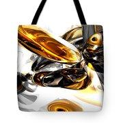 Black Amber Abstract Tote Bag