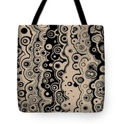 Black And Beige Targets And Lines Tote Bag