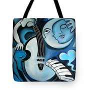 Black And Bleu Tote Bag