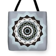 Black And Blue Mandala Tote Bag