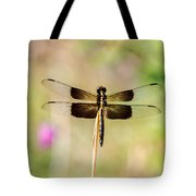 Black And Gold Dragonfly Tote Bag