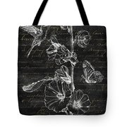 Black And Gold Hummingbirds 2 Tote Bag