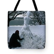 Black And Ice Tote Bag