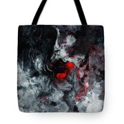 Black And Red Abstract Painting  Tote Bag