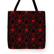 Black And Red Hearts Tote Bag