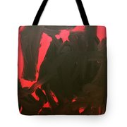 Black And Red Tote Bag