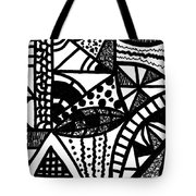 Black And White 16 Tote Bag