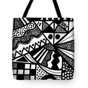 Black And White 18 Tote Bag