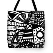 Black And White 19 Tote Bag