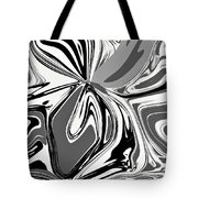 Black And White Abstract Flower Tote Bag