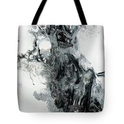 Black And White Abstract Painting  Tote Bag