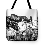 Black And White Amalfi Tote Bag