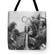 Black And White Anchor Tote Bag