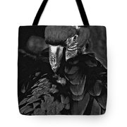 Black And White Bad Ass Bird Tote Bag