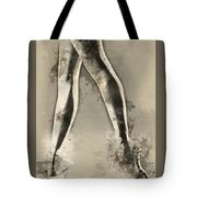 Black And White Ballerina Poster 8  - By Diana Van Tote Bag