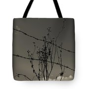 Black And White Barbwire And Branch Tote Bag