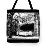 Black And White Barn And Silo Tote Bag