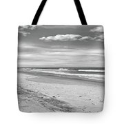 Black And White Beach Tote Bag