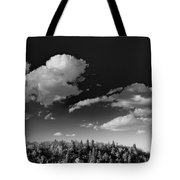 Black And White Blue Ridge Mountains Tote Bag
