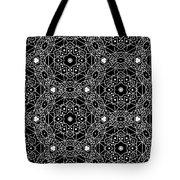 Black And White Boho Pattern 3- Art By Linda Woods Tote Bag