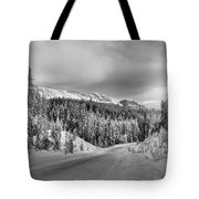 Black And White Bow Valley Parkway - Winter Tote Bag