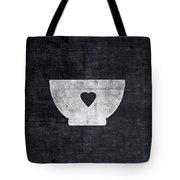 Black And White Bowl- Art By Linda Woods Tote Bag