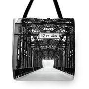 Black And White Bridge Tote Bag