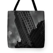 Black And White Buildings Tote Bag
